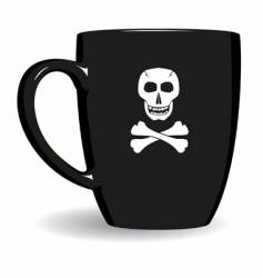 pirate mug vector image