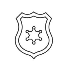 Police badge police related icon editable stroke vector