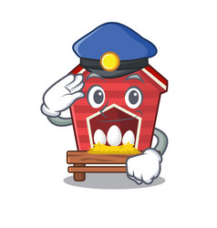 Police chicken coop isolated in mascot vector