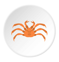 Raw crab icon circle vector