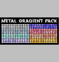 realistic metal chrome gradient big texture pack vector image