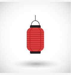 Red chinese lantern flat icon vector