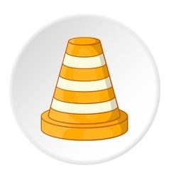 Road repair sign icon cartoon style vector image