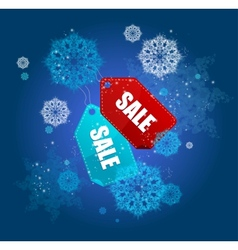 Sale labels winter set vector image