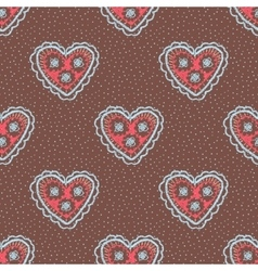 Seamless pattern with hearts Openwork heart vector image