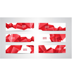 set banners with polygonal geometric vector image