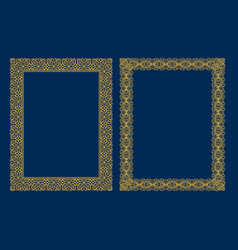 set luxury decorative vintage frames and vector image