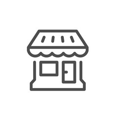 shop line icon vector image