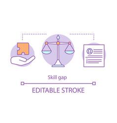 Skill gap concept icon vector