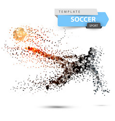 soccer football - dot with glare vector image