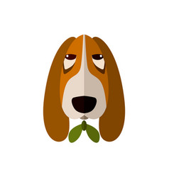 spaniel head icon in flat design vector image