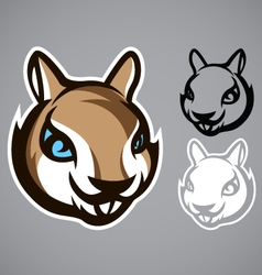 Squirrel head gray logo emblem vector