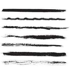 stroke brush grunge set 01 11 vector image