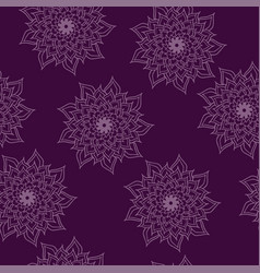 symmetry pattern ornament seamless with mandala vector image