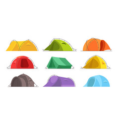 tents for camping set different colors vector image