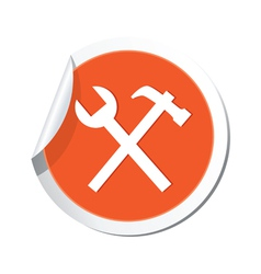 Tools icon orange sticker vector