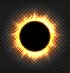 Total solar eclipse icon on transparent vector