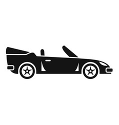 Traveling cabriolet icon simple style vector