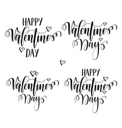 valentines day nice calligraphy design vector image