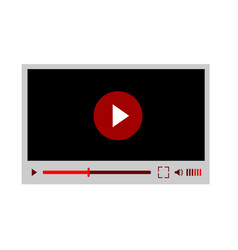 video player interface for web site design or vector image
