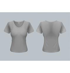 Woman t-shirt vector image