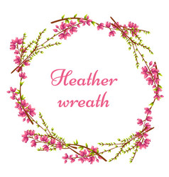 wreath of heather with place for text vector image