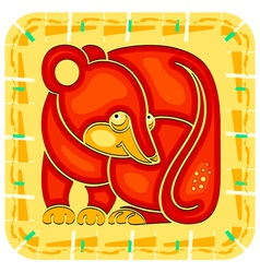Year of the Rat Chinese horoscope animal sign vector