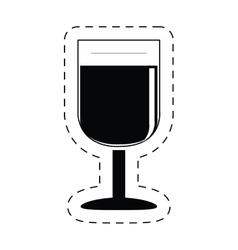 glass cup wine beverage pictogram vector image