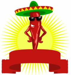 hot chili label vector image vector image