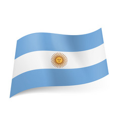 national flag of argentina central white stripe vector image