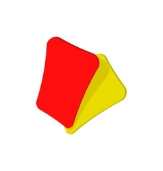 Red and yellow soccer card cartoon icon vector image