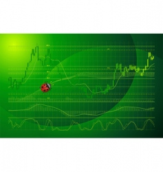 Forex chart vector image vector image