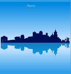 skyline of perm russia vector image vector image