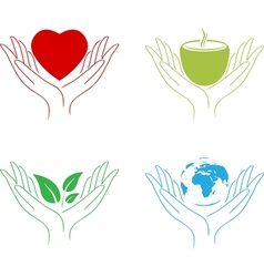 Abstract Care Hands vector image