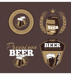 Beer icons labels signs for posters and banners vector image vector image