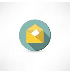 Open yellow envelope vector image