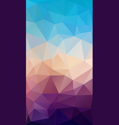 vertical flat triangle background for smartphone vector image vector image