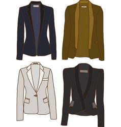 women jackets vector image vector image