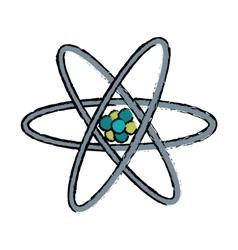 drawn atom molecule structure model vector image