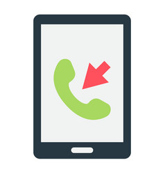 incoming call flat icon contact us and website vector image