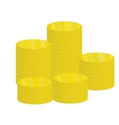 piles of coins vector image vector image