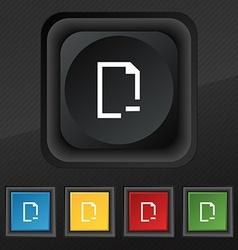 Remove Folder icon symbol Set of five colorful vector image