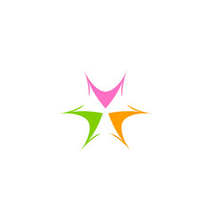 abstract spark circle colored logo vector image
