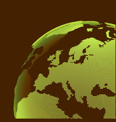 africa and europe earth globe global business vector image