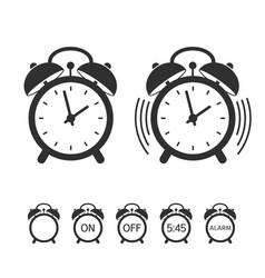 Alarm clock icon set vector