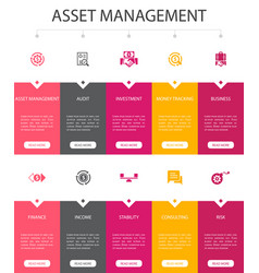 Asset management infographic 10 option ui design vector