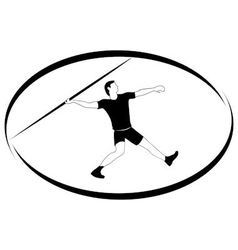 Athletics Javelin throwing vector image