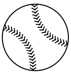 baseball balloon isolated icon vector image