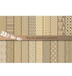 Big set seamless pattern vector image