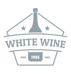 bottle wine logo simple gray style vector image